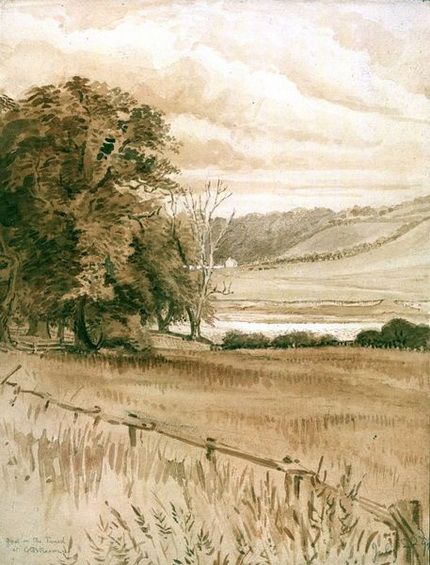 Beatrix Potter - a ford on the Tweed at Coldstream