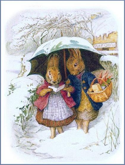 Beatrix Potter -  Bunnies in Winter