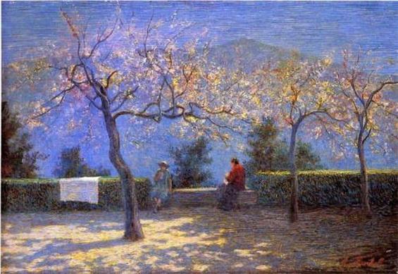 Angelo Morbelli - Spring in Colma