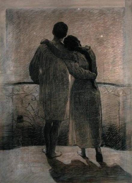 Angelo Morbelli - Young Couple