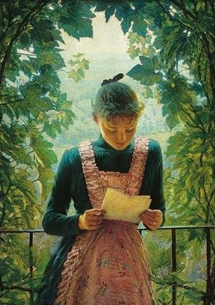 Angelo Morbelli - First Letter