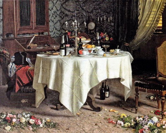 Angelo Morbelli - Remains of a Banquet