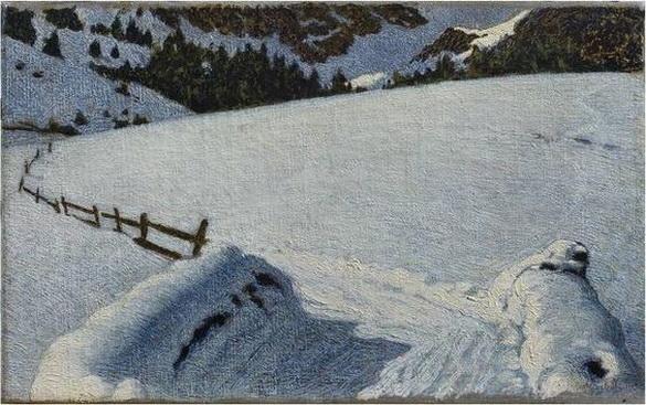 Angelo Morbelli - Snow