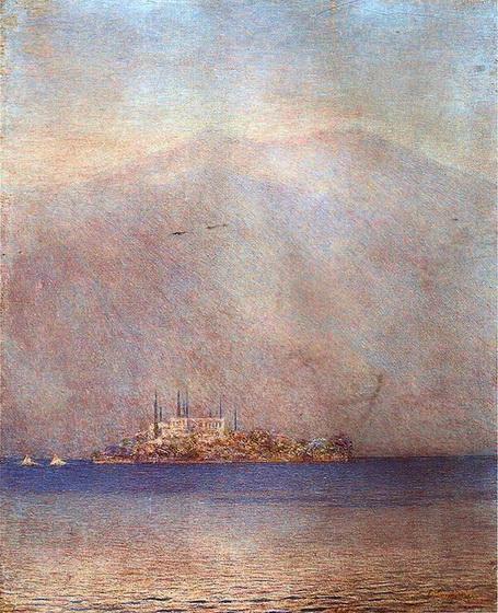 Emilio Longoni - L'isola di San Giulio