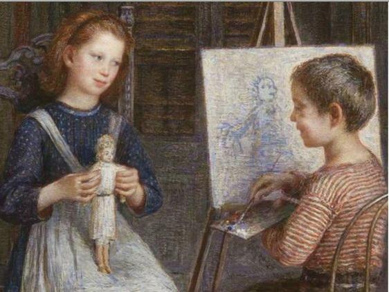 Emilio Longoni - Ritratto alla bambola