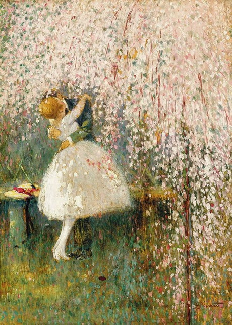 Georges Picard - Romance under the blossom tree