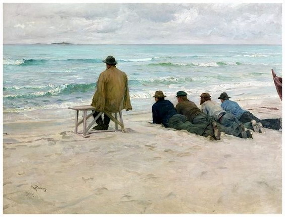 Eilif Peterssen - On the Look-out