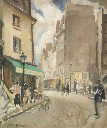 Harry Rutherford - Paris Street Scene