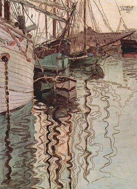Egon Schiele - The reflection