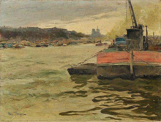 Louis Abel Truchet -  la Seine et Notre-Dame