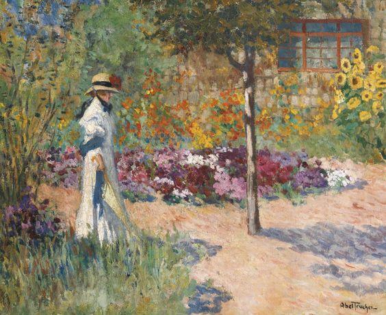 Louis Abel Truchet - Elegance dans le jardin