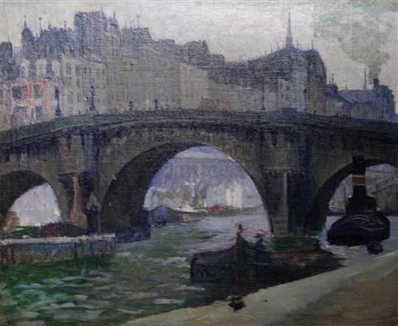 Abraham Leon Kroll - Bridge in Paris