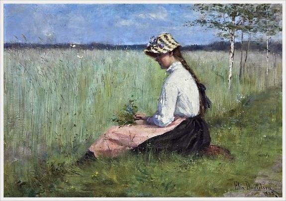 Elin  Danielson - Gambogi - Girl in a meadow