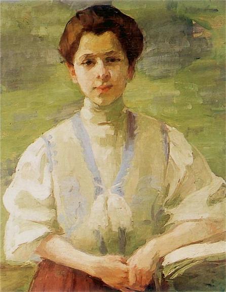 Olga Baznanska - Autoportret