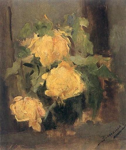 Olga Baznanska - Yellow Roses