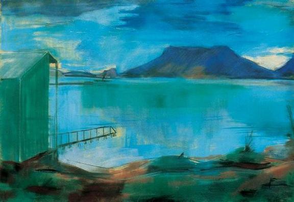 Bernath Aurel - Lakeshore with Bathinghouse