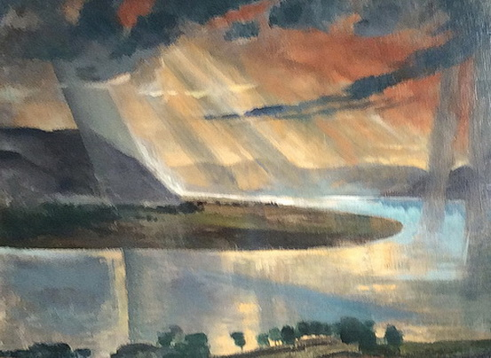 Istvan Szonyi - he Danue with Cloudy Sky