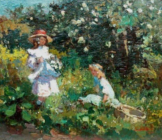 Robert Archibald Graafland -   Bloemen plukken