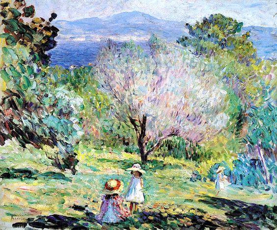 Girls in a landscape in Cannes Henri Lebasque