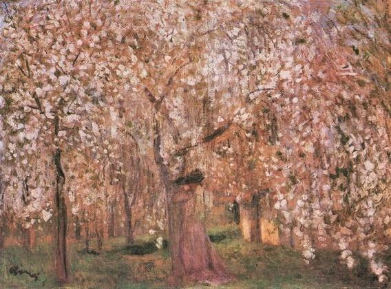 de Jozsef Rippl Ronai - Cherry tree blossoms