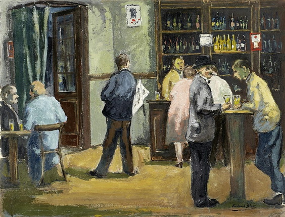 Richard Bloos - Bar am Montmartre