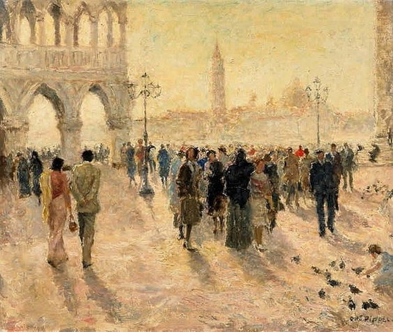 Otto Pippel - Mark's Square in Venice