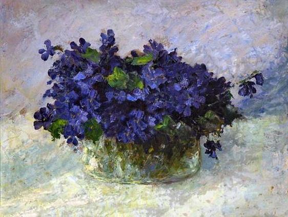Otto Pippel - Violet bouquet