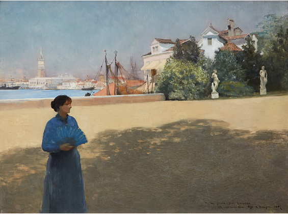 Otto Henry Bacher - Venice Along the Grand Canal