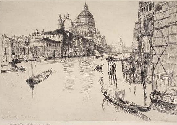 Otto Henry Bacher - Venice The Grand Canal