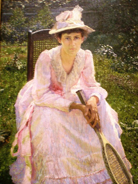 Otto Henry Bacher - Portrait of Mary Holland