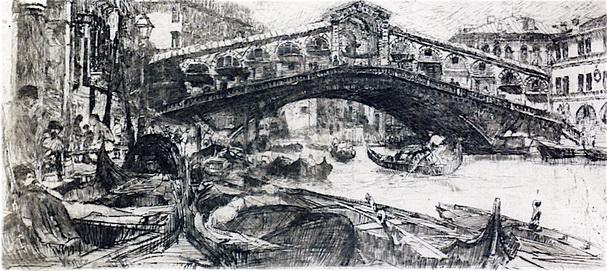 Otto Henry Bacher - Venice Rialto
