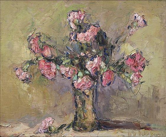 Wlodzimierz Terlikowski - Kwiaty w wazonie,