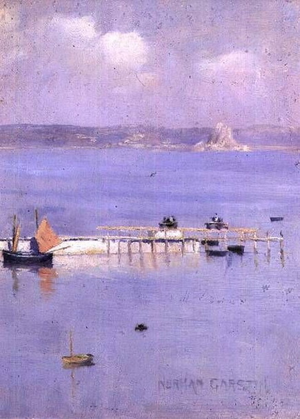 Norman Garstin - view of the bay of Mont with the North Pier