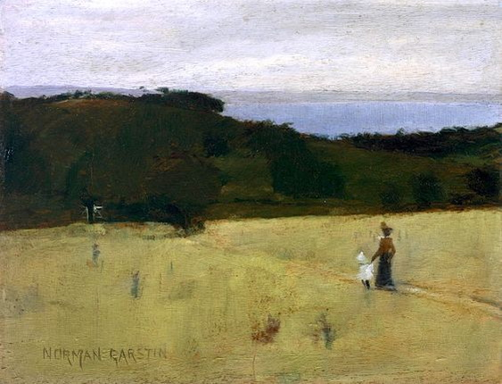 Norman Garstin - 'Mount's Bay and Tolcarne from Trewidden