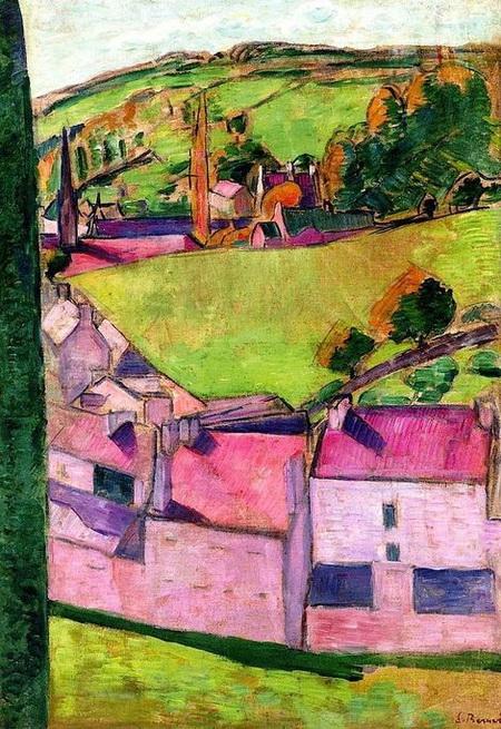 Emile Bernard - View of Pont-Aven