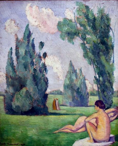 Emile Bernard - Nus dans un paysage