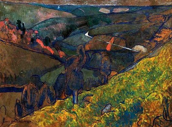 Emile Bernard - Paysage a Pont Aven