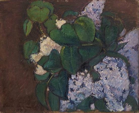 Emile Bernard - Bouquet of Lilacs