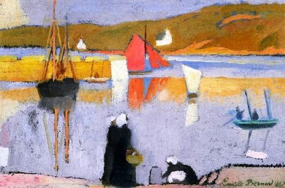 Emile Bernard - Le Port de Saint Briac