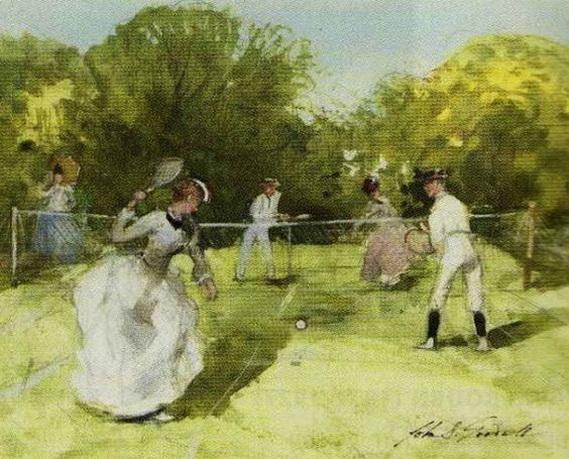 John Strickland Goodall  - A Game of Tennis