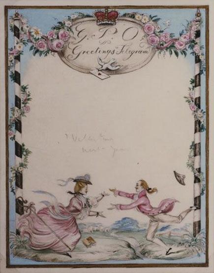 John Strickland Goodall  - St Valentine's day greetings telegram