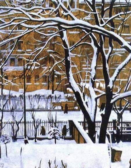 Georgy Vereisky - Зимний пейзаж