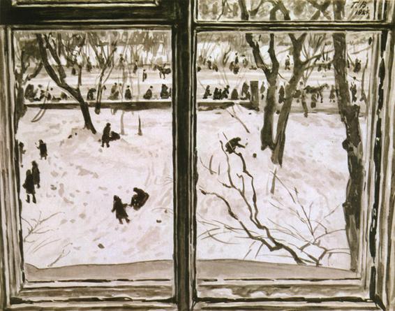 Georgy Vereisky - Дети играют. Вид из окна