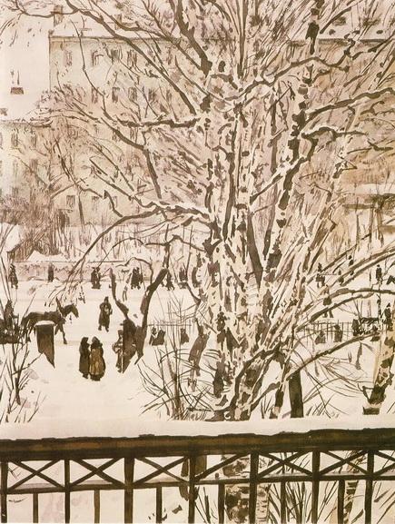 Georgy Vereisky - Зимний пейзаж Ленинград