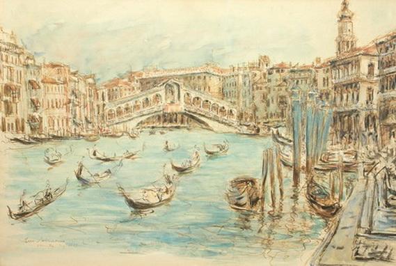 Dimitrie Berea - Peisaj din Venetia