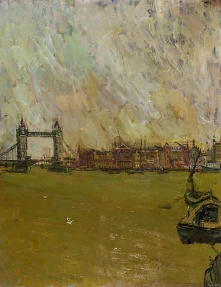 Eric Atkinson - The Thames, Early Morning