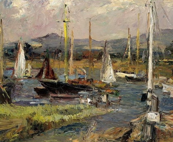 Ronald Ossory Dunlop - BOATS AT ITCHENOR