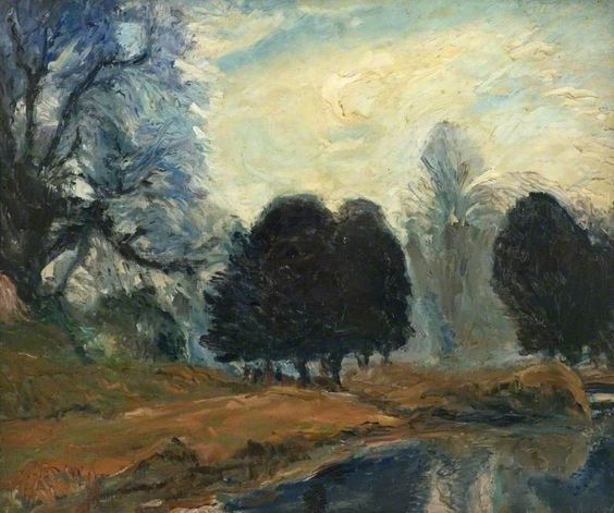 Ronald Ossory Dunlop - The Lake at Swanbourne Park