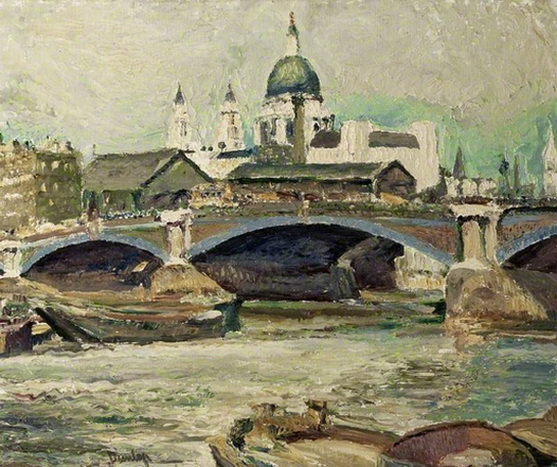 Ronald Ossory Dunlop - St Paul's, Blackfriars Bridge, London