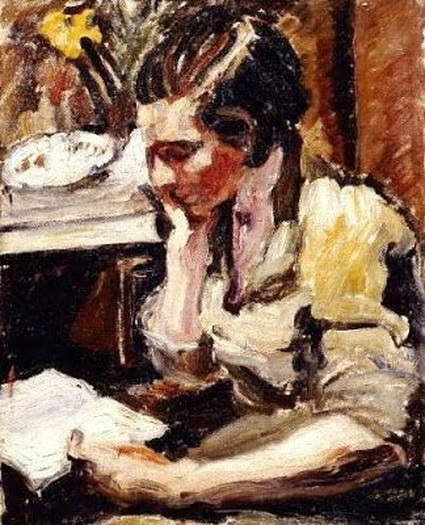 Ronald Ossory Dunlop - Girl reading